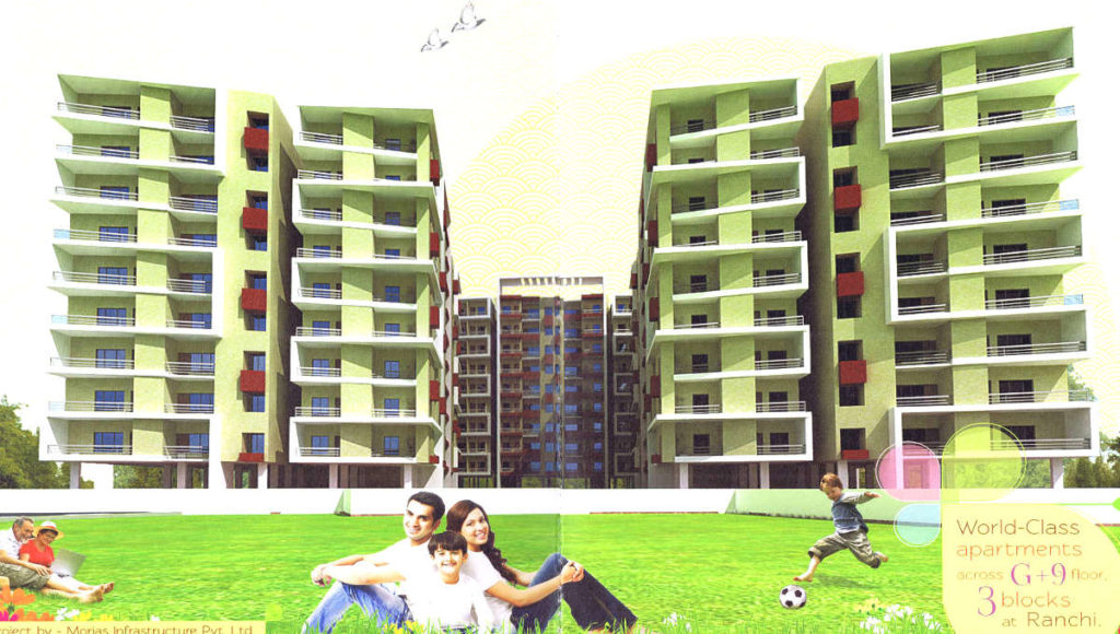 3 BHK 1690 SQFT UNDER CONSTRUCTION FLAT IN HARIHAR SINGH ROAD - RANCHI