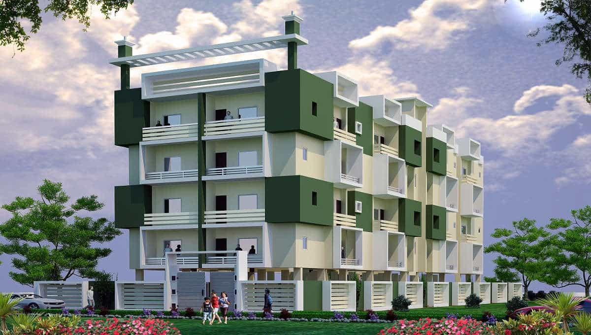 3 BHK 1435 SQFT FLAT ON 4TH FLOOR IN PATHALKUDWA