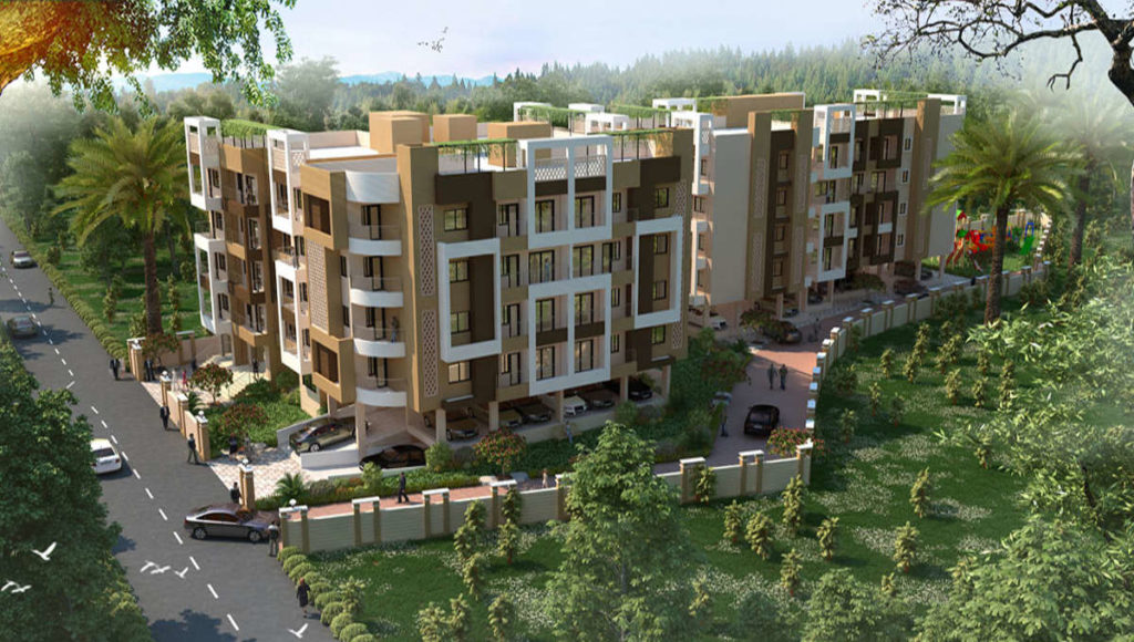 3 BHK 1330 SQFT UC FLAT IN BLOCK A IN HILL VIEW ROAD BARIATU