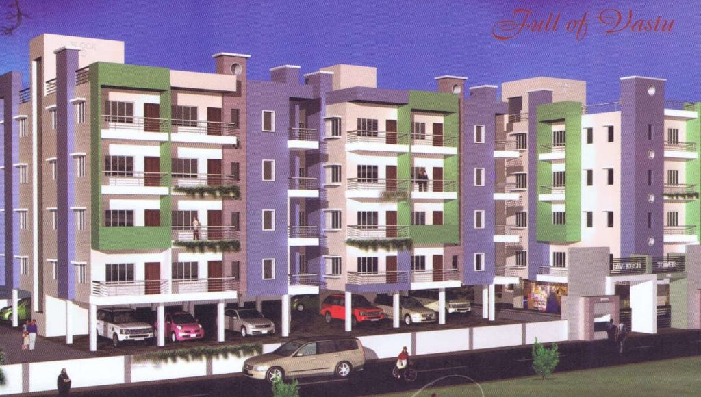 1 BHK 855 SQ FT READY TO MOVE FLAT ON 3RD FLOOR IN BARIATU